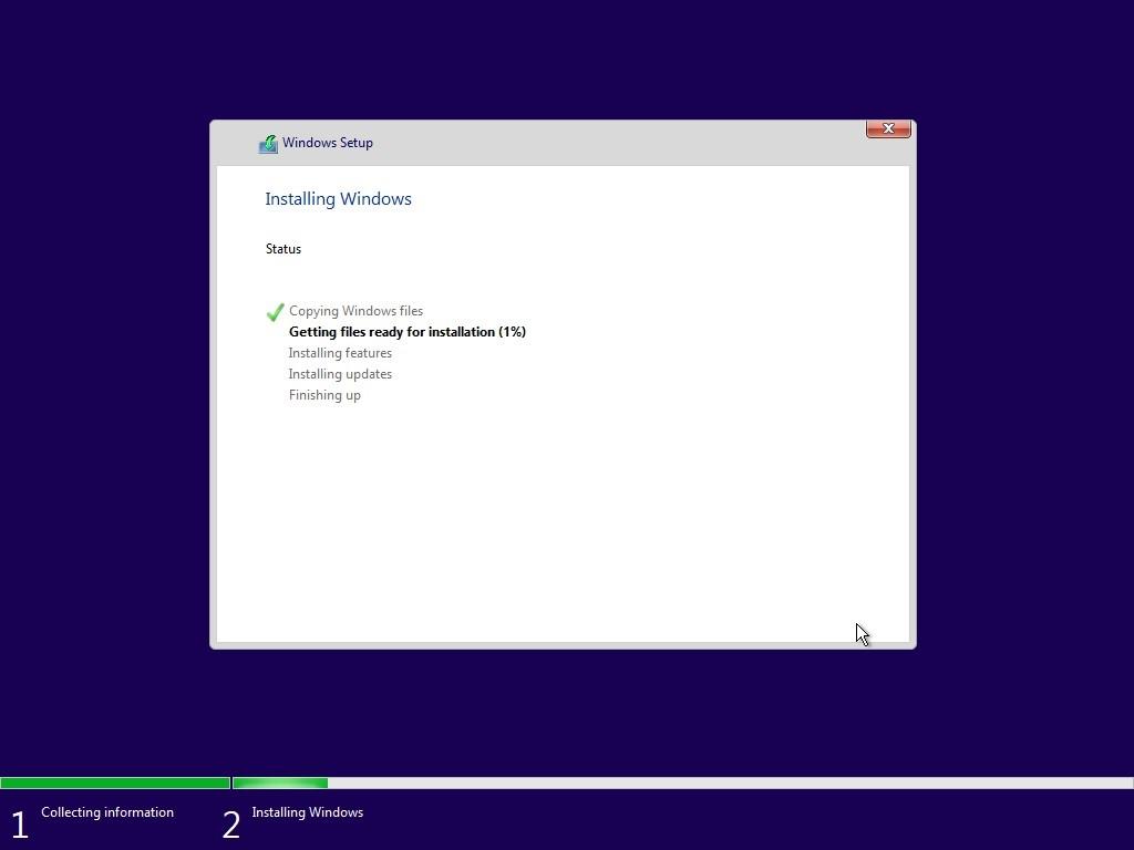Selesai, Anda tinggal menunggu proses instalasi ini hingga selesai. Biasanya prosesnya membutuhkan waktu 3 menit. Pastikan baterai dalam kondisi full sebelum meng-install ulang Windows.